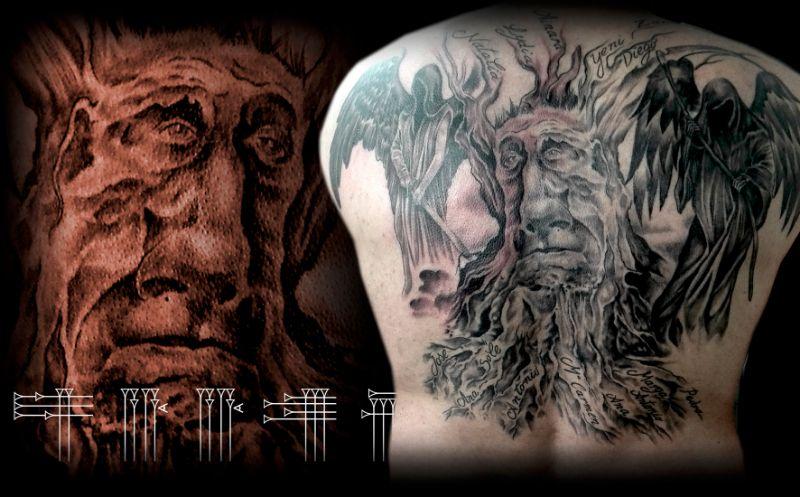Tatuaje árbol genealogico