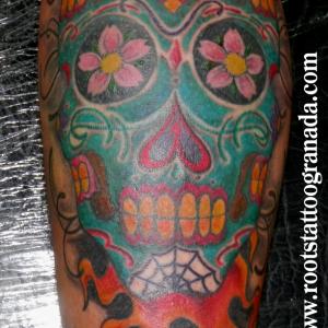 Tatuaje calavera mejicana