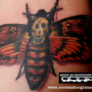 Tatuaje mariposa 'El silencio de los corderos'