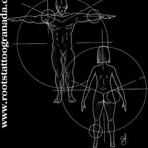 6.- BIBLIOGRAFÍA. Dibujo proporciones del cuerpo, Leonardo Da Vinci, hombre de Vitrubio, tatuajes Granada