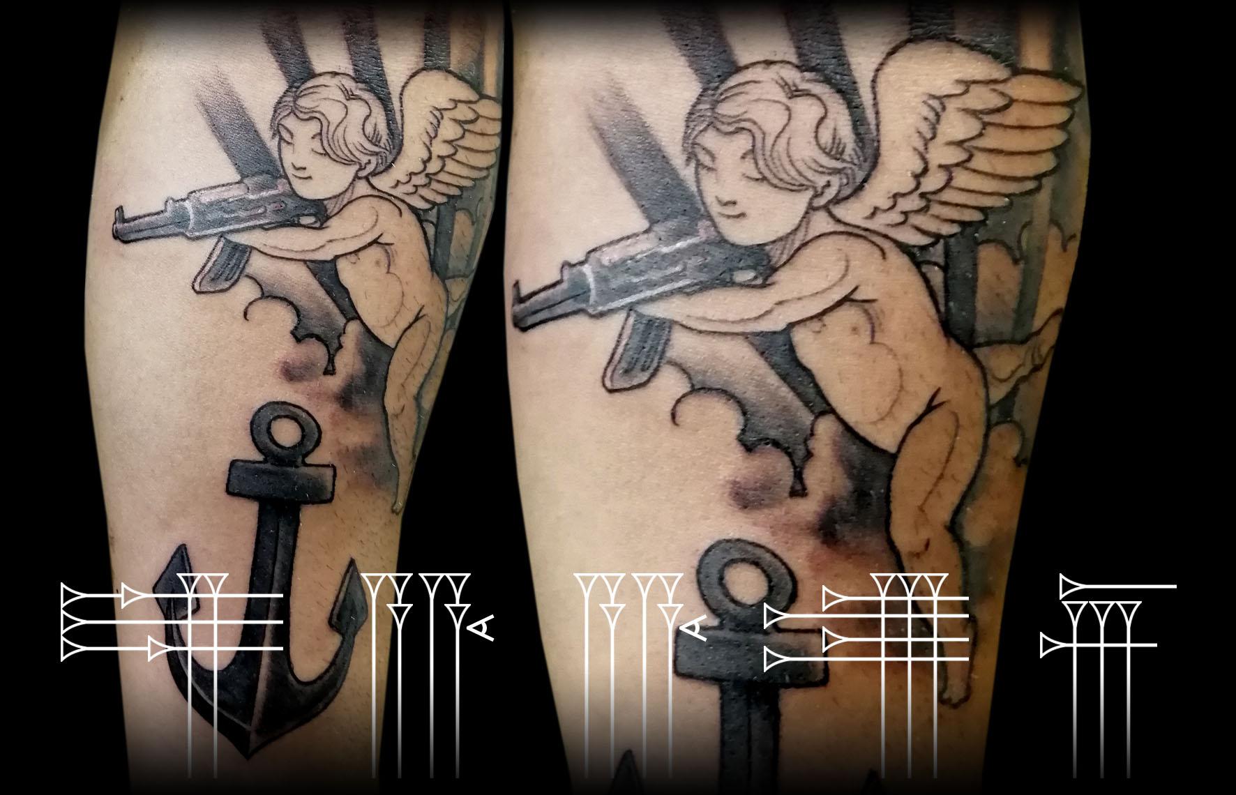 tatuaje de angelito