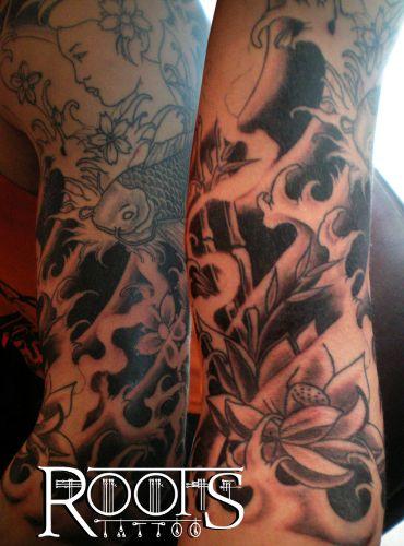 Tatuajes de brazo completo oriental