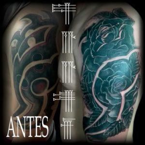 Increíble tapado de tatuaje tribal