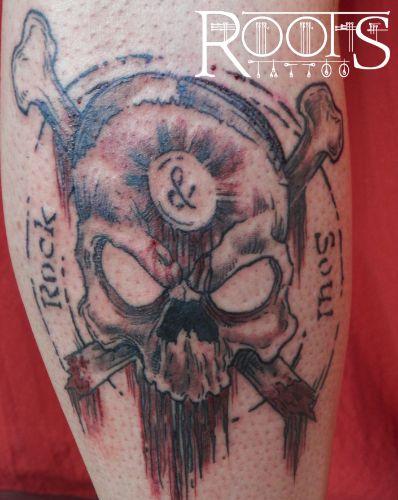 Tatuaje bandera pirata