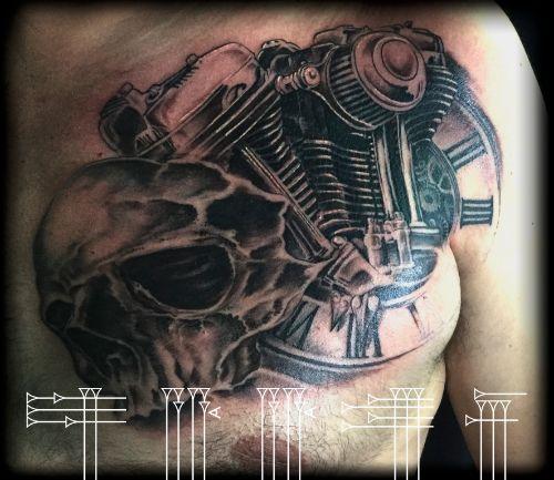 Motorbike tattoo