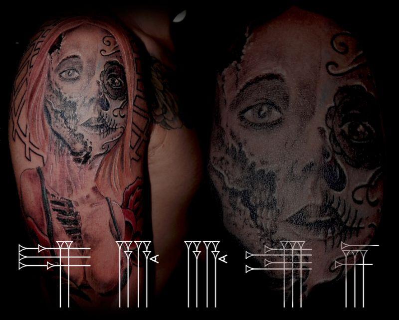 Mujer del día de los muertos