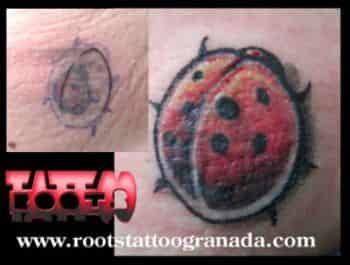 Tapado de tatuaje muy pequeño