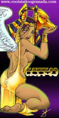 Mujer egipcia, por Serafín Rabé