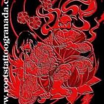Tatuaje al estilo tradicional japonés