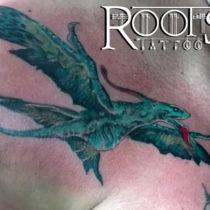 Tatuaje en color para el pecho