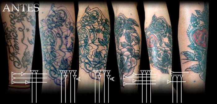 Pasos para cubrir un tatuaje antiguo