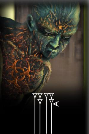ilustración monstruo verde