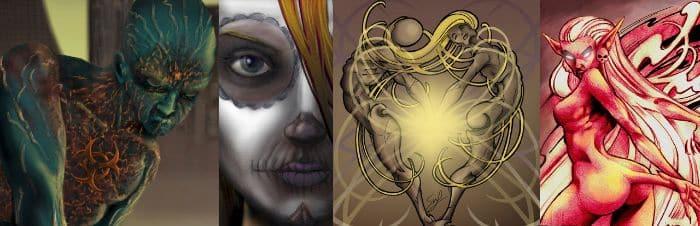Varios diseños de tatuajes