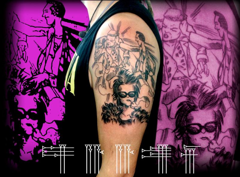 Tatuaje del club de la lucha