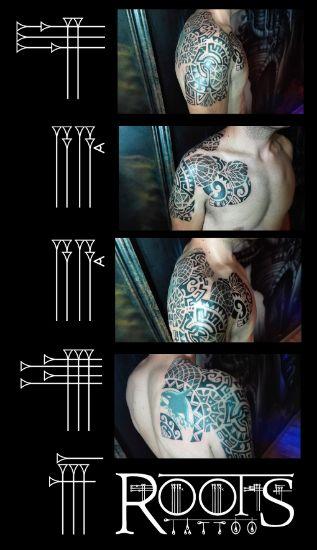 Tatuaje hombro, pecho y espalda