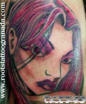 Tatuaje tipo cómic