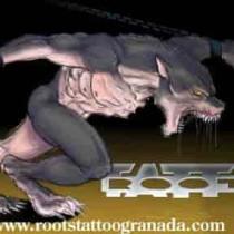 Dibujo hombre lobo, Serafín Rabé, Roots Tattoo Granada