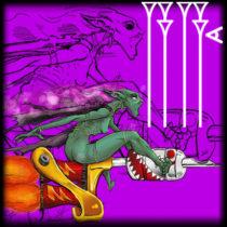 Tattoo rider fairy