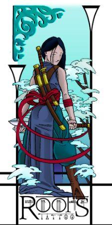 Guerrera samurai