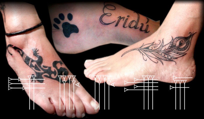 Tattoos tipicos para pie de mujer