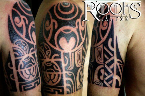 Ideas Para Tatuaje Maori En El Hombro Y Brazo Roots Tattoo Granada - Brazo-tatuaje