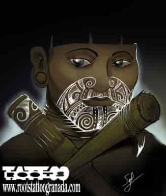 Dibujo Moko Nueva Zelanda