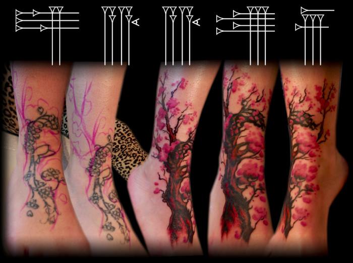 Arreglo de tatuaje freehand