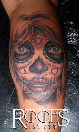 Tatuaje Dama del día de los muertos