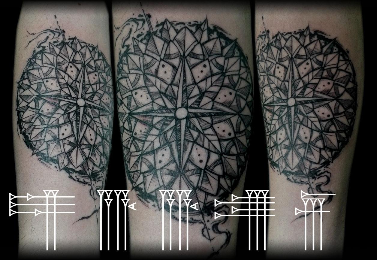 Tatuaje mandálico en antebrazo