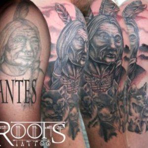 Arreglo tatuaje brazo
