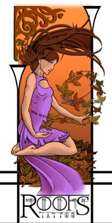 Chica jugando con hojas muertas