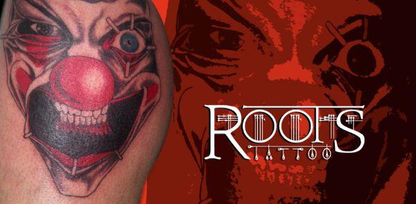Tatuaje de payaso malvado