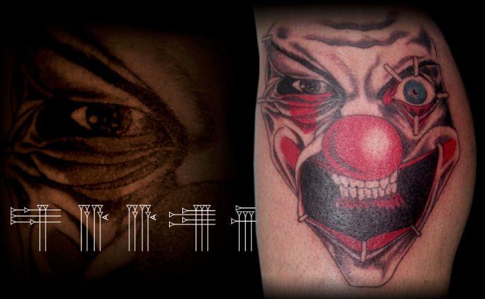 Tatuaje de payaso loco