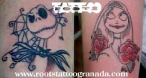 Tatuaje complementario Tim Burton