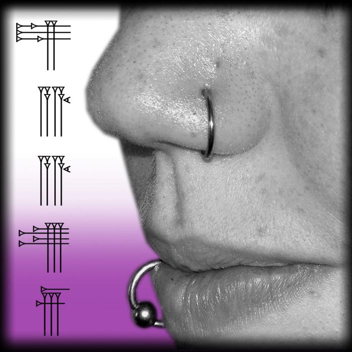 Piercing facial chicas