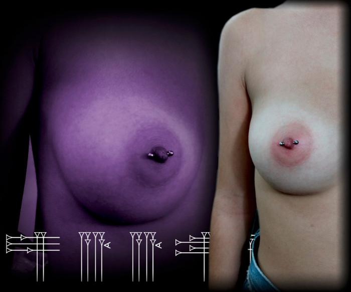Piercing pecho mujer