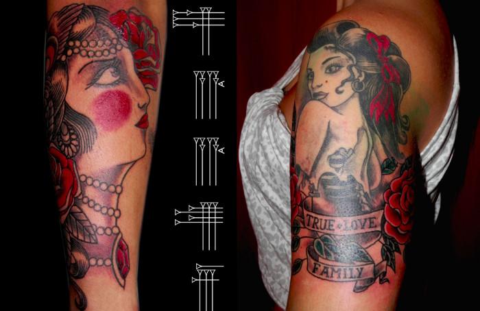 Tatuajes de pinup vieja escuela
