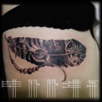 tatuaje con cara de tigre