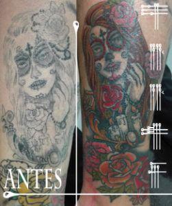 Tatuaje antes y después