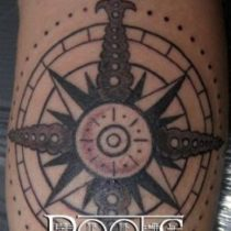 Tatuaje circular sombras