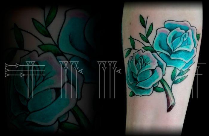 Tatuaje con línea gruesa
