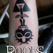 Tatuaje tinta plana