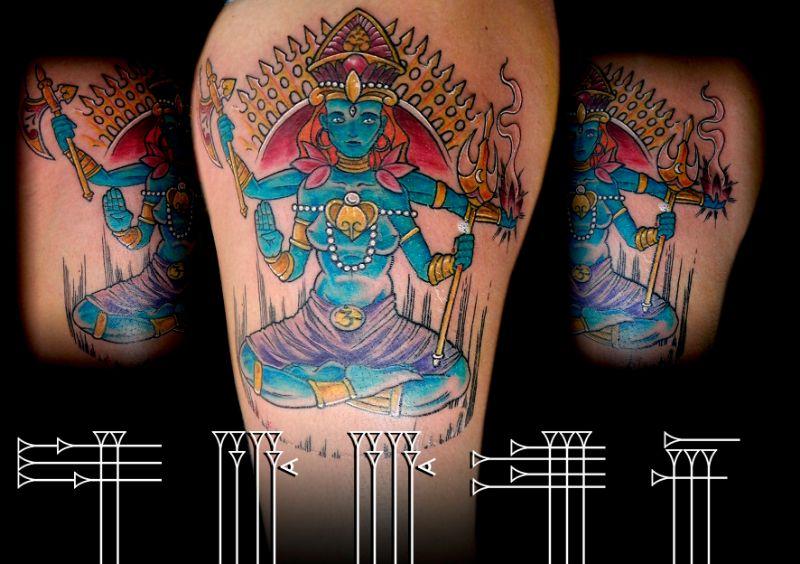 Tatuaje dios hindú