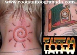 Tatuajes pequeños en color