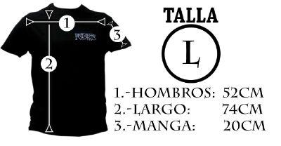 Medidas camiseta hombre L