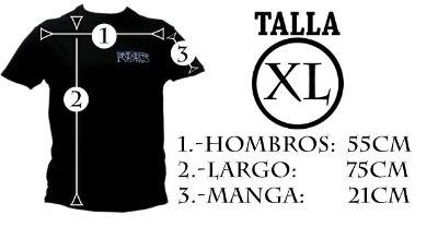 Medidas camiseta hombre XL