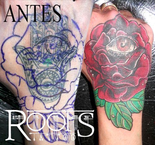 Asombroso tapado de tattoo en la mano