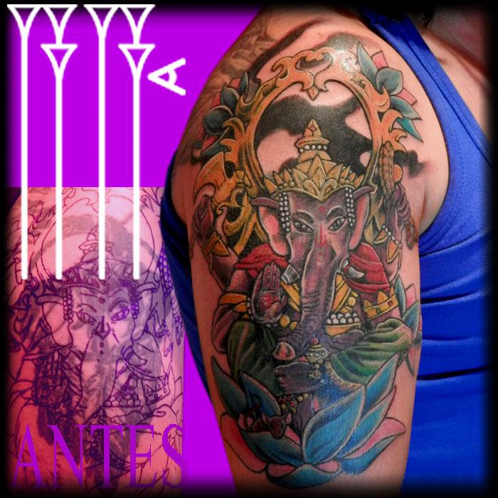 Dios hinduísta para tapar tatuaje negro