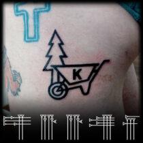 Tatuaje bajo la nalga