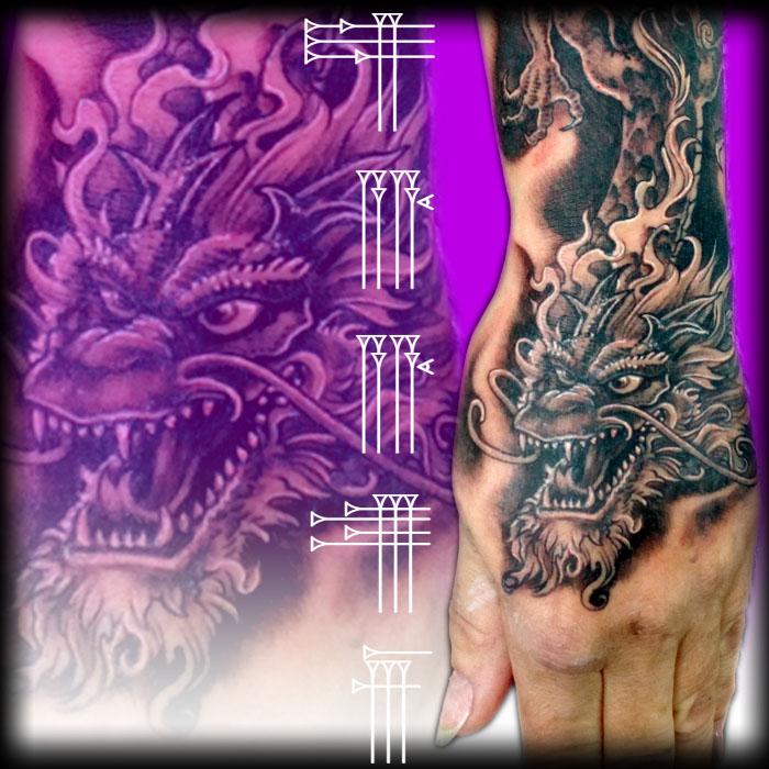Diseño de tatuaje para mano de mujer